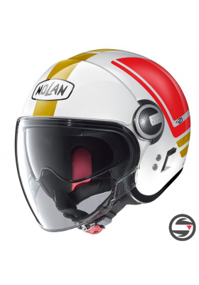 N21 VISOR FLYBRIDGE 067 METAL WHITE RED GOLD