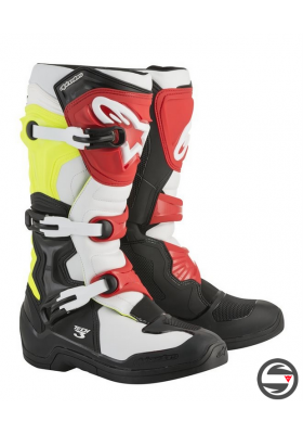 ALPINES. TECH 3 (1053) BLACK WHITE YELLOW RED
