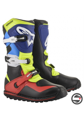 TECH-T (1375) BLACK RED BLUE YELLOW FLUO NEW