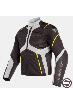 SAURIS D-DRY JACKET 06A BLACK QUARRY FLUO YELLOW