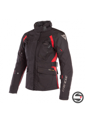 D-DRY X-TOURER LADY D-DRY JACKET 00A BLACK BLACK RED