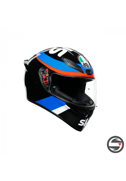 K1 AGV TOP 008 REPLICA VR46 SKY RACING TEAM BLACK RED