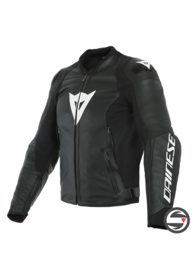 SPORT PRO LEATHER JACKET 622 BLACK WHITE