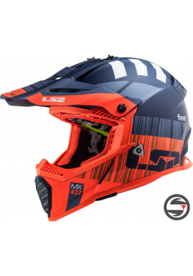 MX437 FAST EVO XCODE MATT ORANGE BLUE
