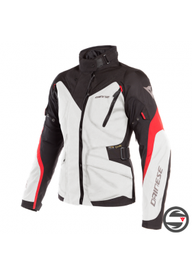 D-DRY TEMPEST 2 LADY JACKET 02A LIGHT-GRAY BLACK RED