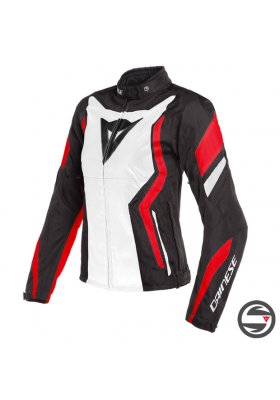 EDGE LADY TEX JACKET 79A BLACK WHITE LAVA-RED