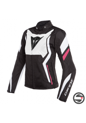 EDGE LADY TEX JACKET 27A BLACK WHITE FUCSIA