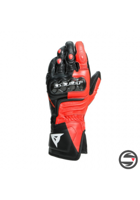 CARBON 3 LONG GLOVES W12 BLACK FLUO-RED WHITE