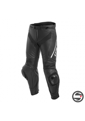 DELTA 3 PERF. LEATHER PANTS 948 BLACK WHITE