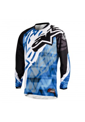 ALPINES. YOUTH RACER JERSEY 71 BLUE BLACK