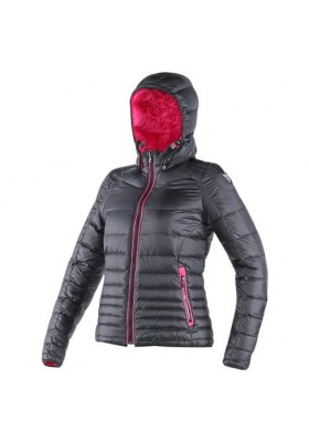 GANIMEDE DOWNJACKET LADY BLACK FUCHSIA