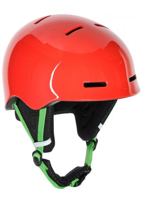 B-ROCKS HELMET LIGHT-RED EDEN-GREEN