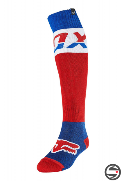 25899-002 FOX THICK SOCK AFTERBURN BLUE RED