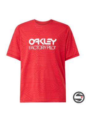 OAKLEY PIPELINE TRAIL TEE JERSEY RED