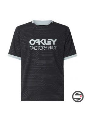 OAKLEY PIPELINE TRAIL TEE JERSEY BLACK