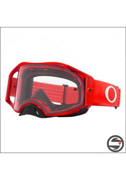 OAKL 7046-A9 AIRBRAKE MX RED METAL CLEAR LENS
