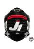 JUST1 HELMET J12 PRO RACER WHITE CARBON GLOSS