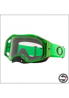 OAKL 7046-A8 AIRBRAKE MX MOTO GREEN CLEAR LENS