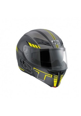 COMPACT AGV SEATTLE MATT BLACK YELLOW