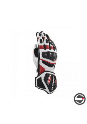 RS-9 LEATHER RACE REPLICA GLOVES RED BLACK CLOVER