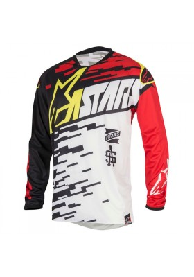 ALPINES. RACER BRAAP JERSEY 2016 - 231 WHITE RED BLACK