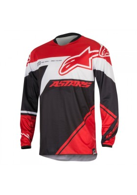ALPINES. RACER SUPERMATIC JERSEY 321 RED WHITE