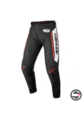 ALPINES. RACER FLAGSHIP PANTS 1231 BLACK WHITE RED FLUO (3721322)