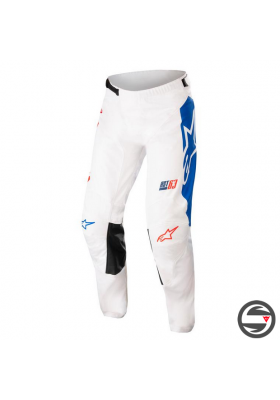 ALPINES. RACER COMPASS PANTS 2537 WHITE RED BLUE (3722122)