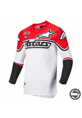 ALPINES. RACER FLAGSHIP JERSEY 2310 WHITE RED (3761322)