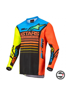 ALPINES. RACER COMPASS JERSEY 1534 BLACK YELLOW CORAL (3762122)