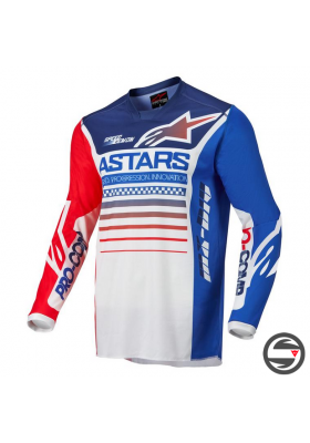 ALPINES. RACER COMPASS JERSEY 2537 WHITE RED BLUE (3762122)