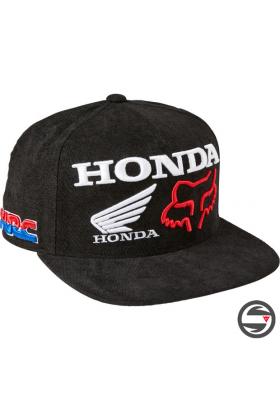 28343-001 CAP FOX HONDA HRC SB HAT BLACK