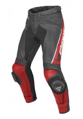 DELTA PRO C2 LEATHER PANTS BLACK RED