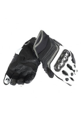 CARBON D1 SHORT GLOVES V82 BLACK WHITE