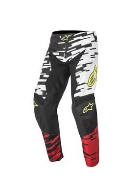 ALPINES. YOUTH RACER BRAAP PANT 231 WHITE RED BLACK
