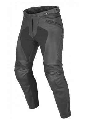 PONY C2 LEATHER PANTS BLACK MAN