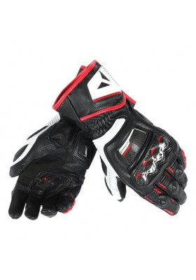 PELLE DRUID D1 LONG GLOVES V78 BLACK WHITE LAVA-RED