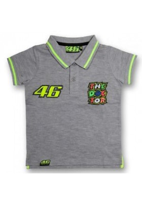 POLO VR46 KID GREY MELANGE 206705