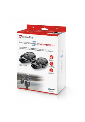 INTERFONO CELLULARLINE SPORT TWIN PACK