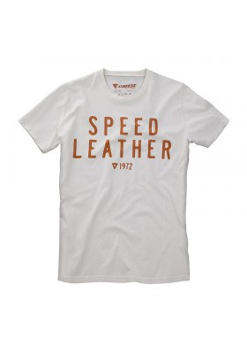 T-SHIRT SPEED LEATHER 1972 WHITE