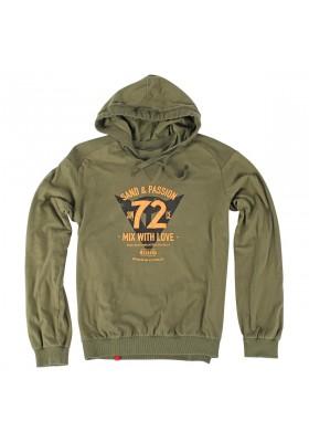 FELPA 72&PASSION ARMY-GREEN