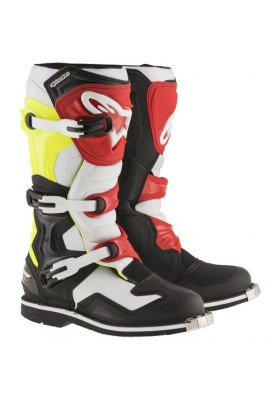 ALPINES. TECH 1 BLACK WHITE YELLOW FLUO RED (1053)