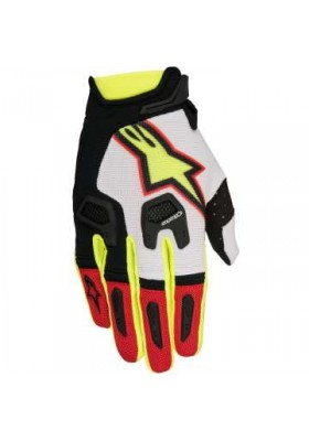 RACEFEND GLOVES 236 WHITE RED YELLOW