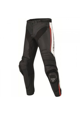 MISANO LEATHER PANTS N32 BLACK WHITE RED