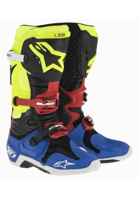 ALPINES. TECH 10 BLACK YELLOW FLUO BLUE RED (1537)