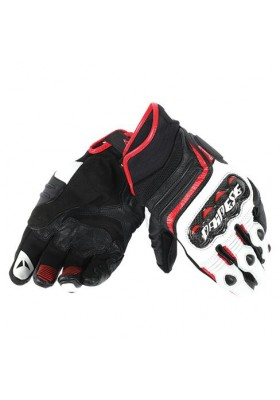 CARBON D1 SHORT GLOVES V78 BLACK WHITE LAVA-RED