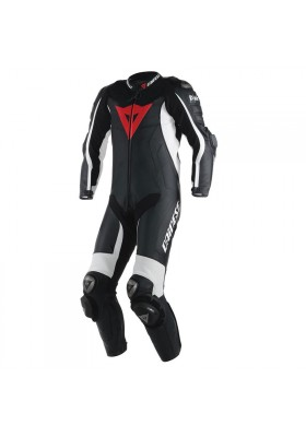 D-AIR RACING MISANO 1PC PERF. SUIT BLACK BLACK WHITE