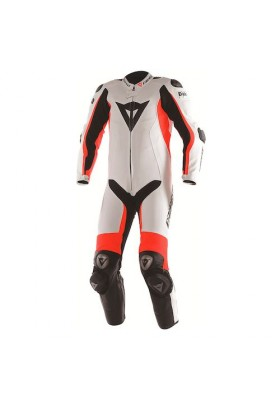 D-AIR RACING MISANO 1PC PERF. SUIT WHITE FLUO-RED