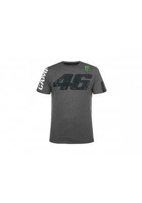 T-SHIRT VR46 MAN GREY MELANGE MOMTS274031