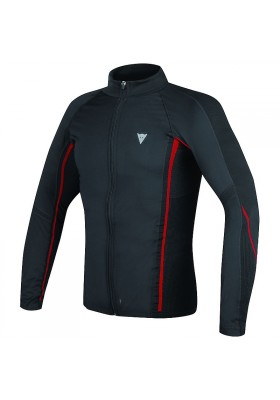 D-CORE NO-WIND THERMO TEE LS 606 BLACK RED